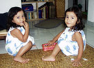 2 and a half year old identical twins from Malaysia
