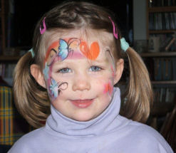 Isabel face painted